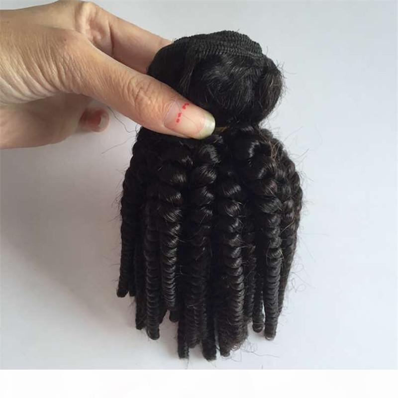 12-28 дюймов Fummi волос пучки человеческих волос WEAVES FUMI CURL 3 шт. Волосы натуральные черные тетя Fumi Bouncy Curls Weft, Бесплатная доставка