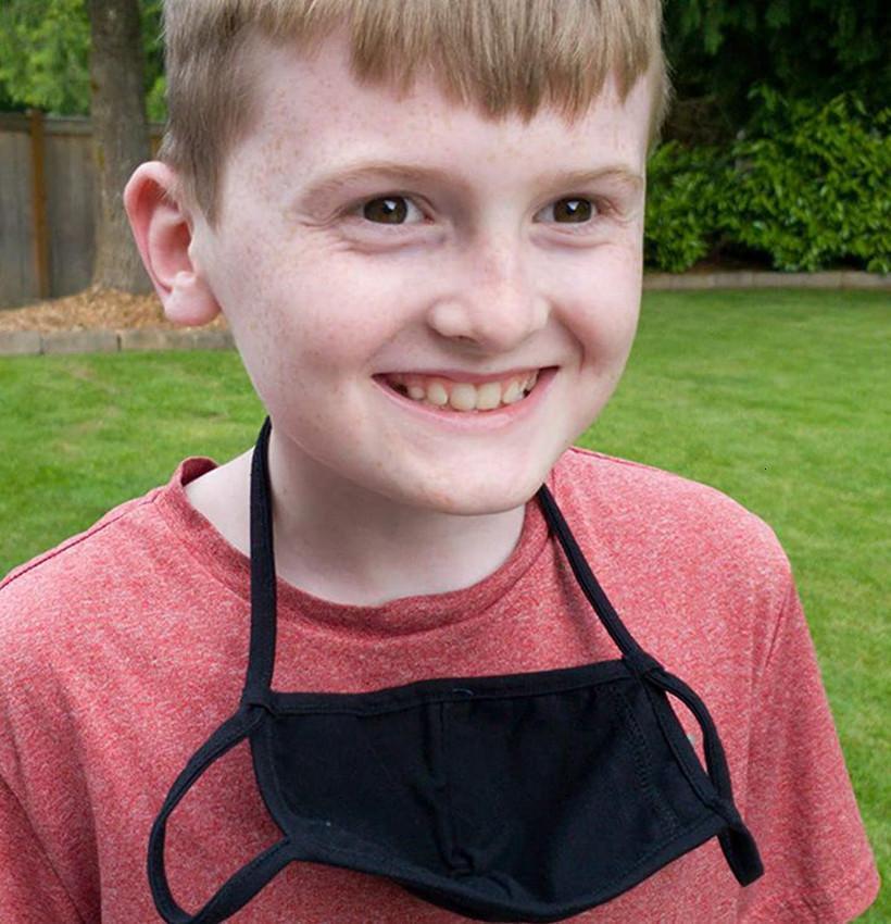 Lavabile Alla moda Morbido Hanging Neck Cotton Reusable Ploth Ploth Mask Mask Bocca Bambini Adulto PM2.5 Maschere LJJK2420x3PM