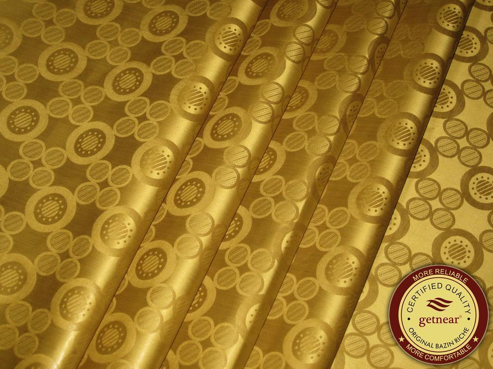 Bronze Couleur Allemagne Qualité Jacquard Damas Bazin Riche Guinée Brocade Coton Coton Coton 100% coton Similaire à Getzner