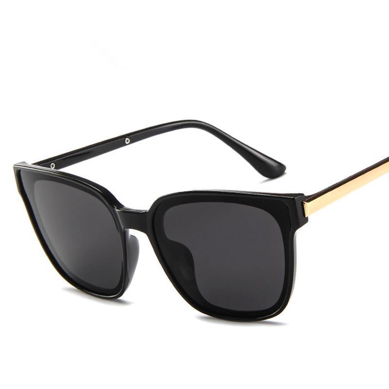 Güneş Gözlüğü Moda Gözlük Kadın Kişilik Şeffaf Vintage Kare UV400 Lüks-2021 Xujfo