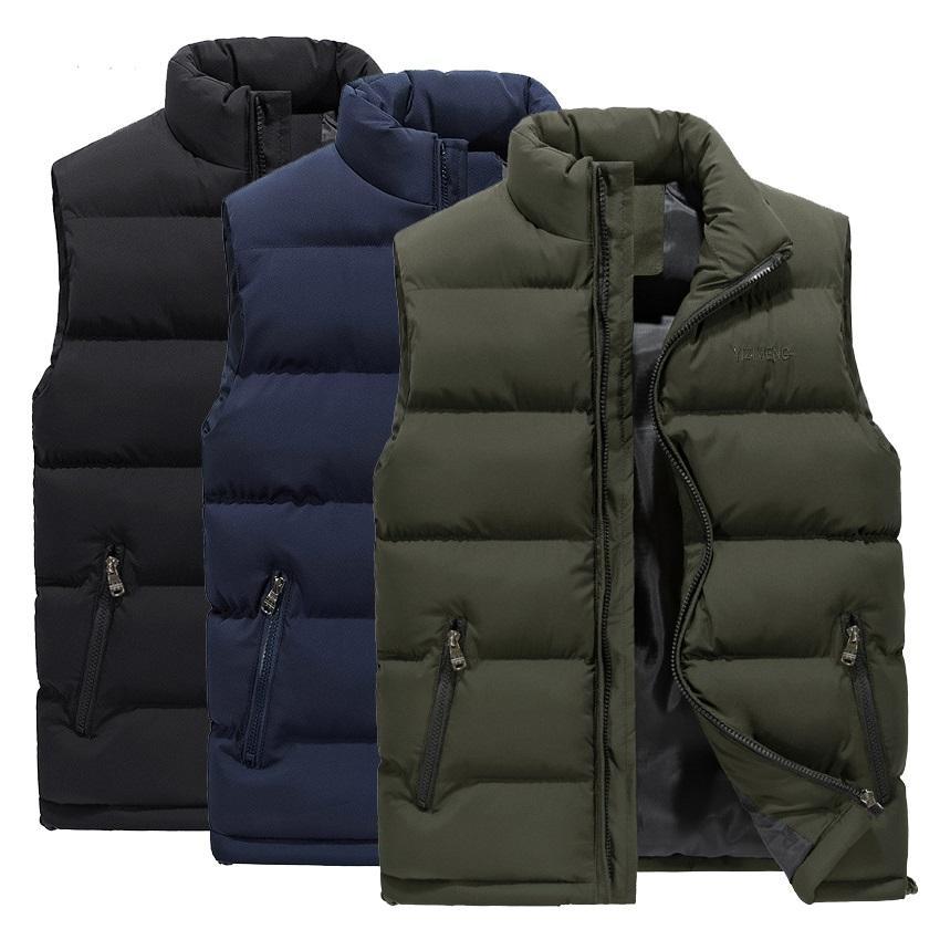 الرجال سترة الشتاء عارضة أكمام سترات أسفل سترة يندبروف الدافئة صدرية عارضة معاطف زائد الحجم M-6XL