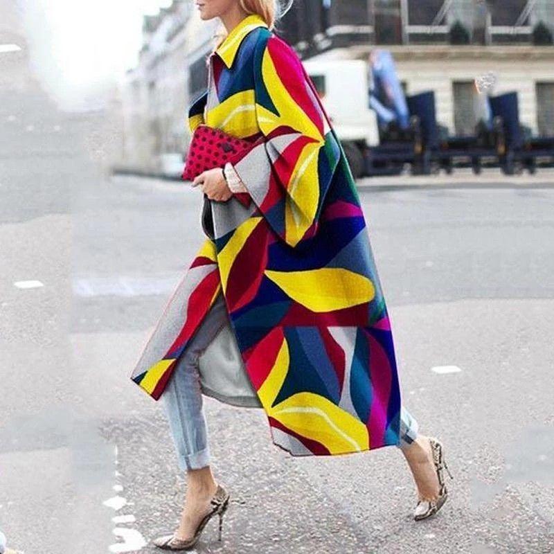 Damen Kleidung Fall Fashion Parka Femme Stylist Kleidung Floral Muster Täfelte Trenchcoat Hohe Qualität Damenjacke