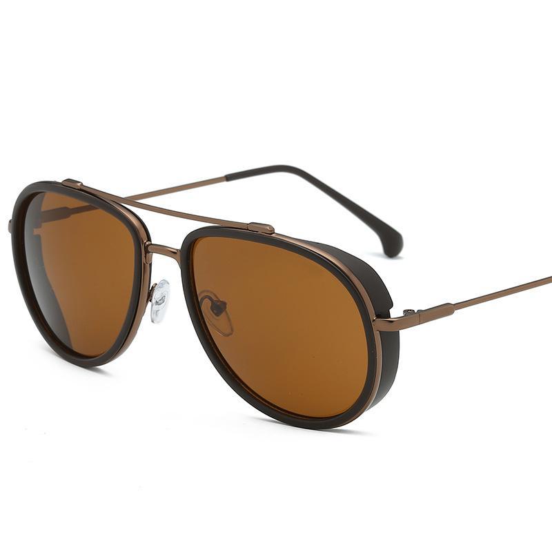 Мужчины Солнцезащитные очки Мода Ретро Тос Зеркало анти-УВ400 Приводные Очки Мужские Солнцезащитные Очки Металлическая Рамка Популярна в Европе и Америке Горячий стиль