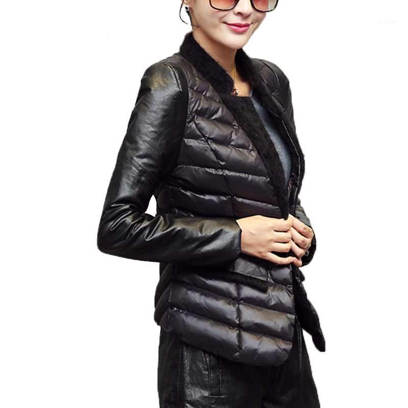 Осень зима с хлопковым костюмом воротник женская короткая куртка стильный черный тонкий бомбардировщик женская куртка легко нести двухсекционный костюм1
