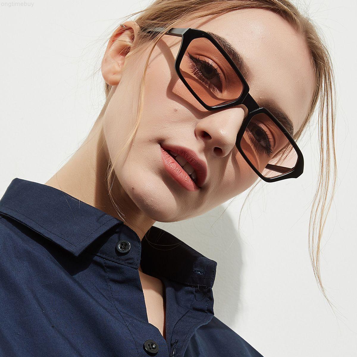 para la marca rectangular gafas de sol diseño sol mujeres vintage gafas damas retro pequeño marco anteojos negro gafas UV400