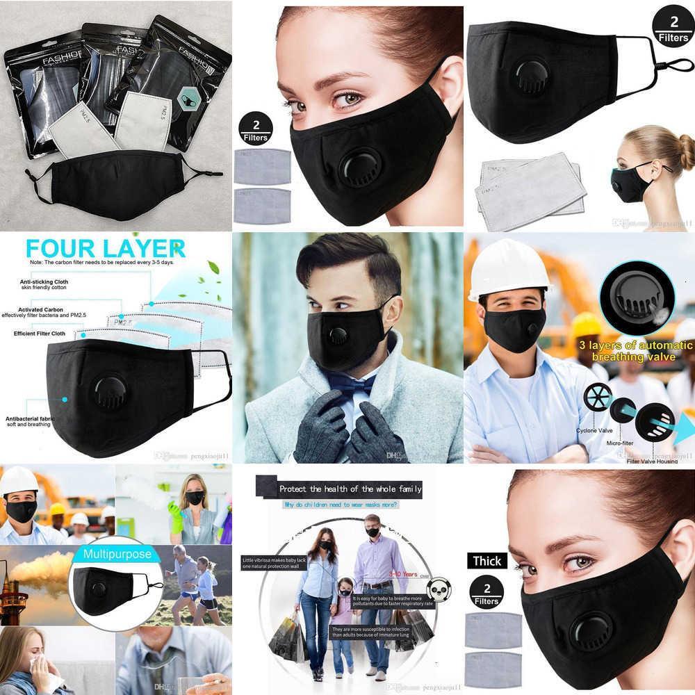 Маски для лица рот крышка рот DHL Бесплатная маска пыли фильтр пылезащитный защитный респиратор маска с 2 фильтрами PM2.5 в наличии 95Q7