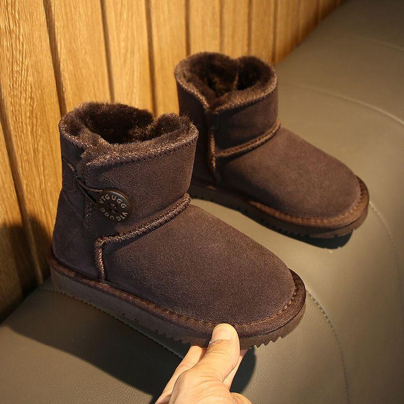 R06T Kids 2021 adulto preço baixo australiano botas grossas sapatos neve couro curva no tubo botas de neve sapatos de algodão gazelle