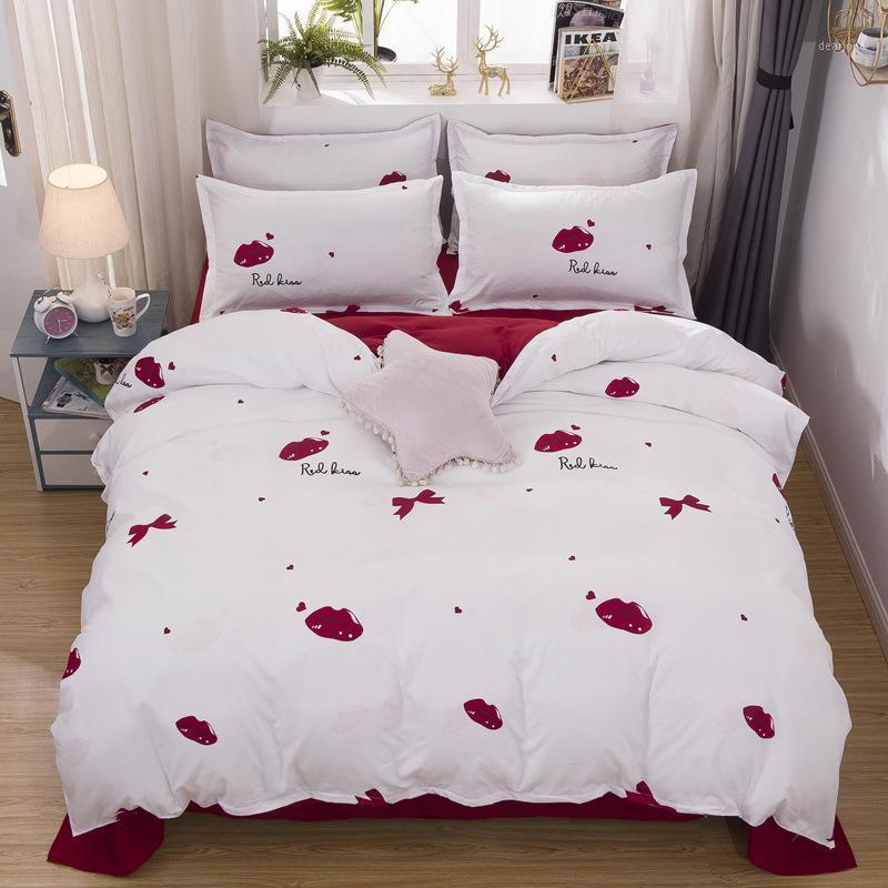 Home Textile Bedding Set microfiber fabric bedding set king queen full single family size1