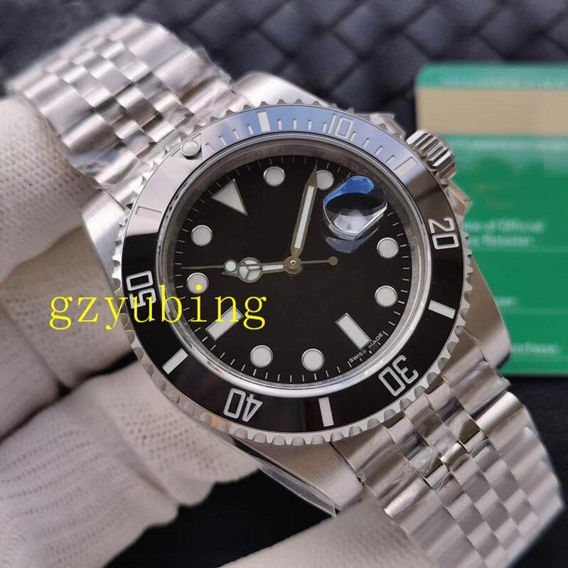 Best Quality Mens Watch Montre de luxe наручные часы керамические безрезультатно 2813 автоматическое движение полный нержавеющие спортивные мужские часы