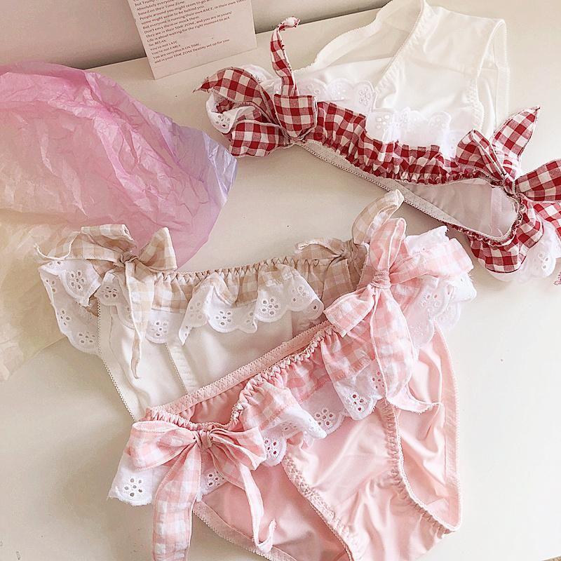 Wriufred tela e interior lindo del bowknot de la cintura baja de los calzoncillos de los estudiantes escritos cadera del bolso mujeres de la muchacha cómoda panty de algodón
