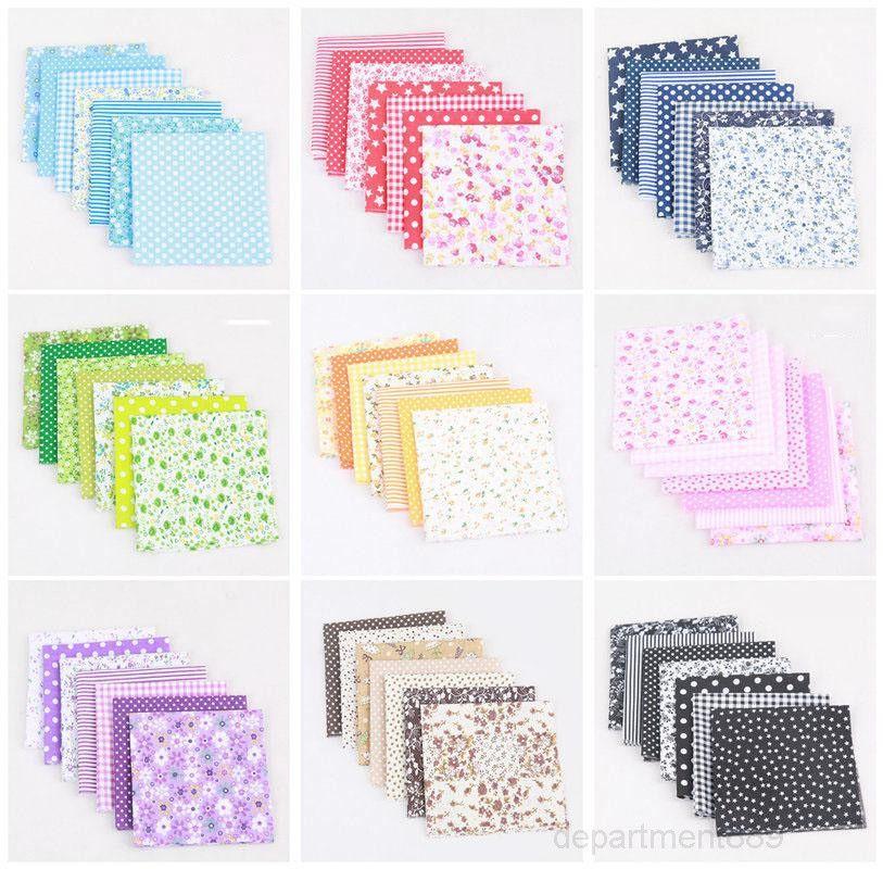 Square 50 * 50 cm Petite tissu de tissu de tissu floral imprimé coton bricolage à la main patchwork à la main décoration de la maison OWD2729