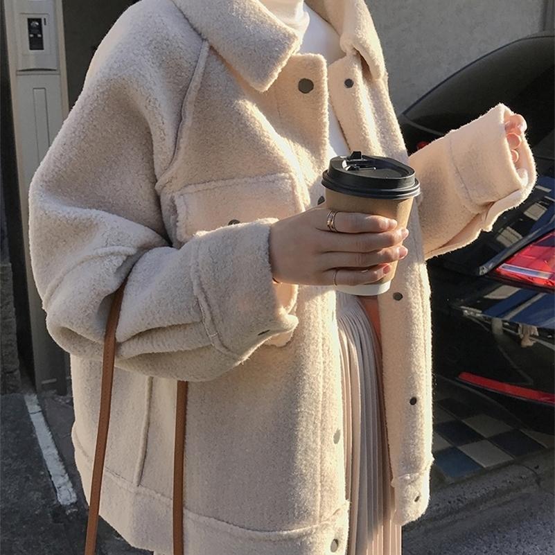 Joteau en peau de mouton anticipée Nouvelle veste de chemise en peluche en peluche 201210