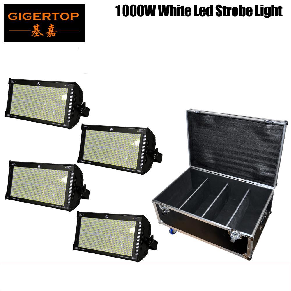 4em1 Flight Case Packing 4XLOT 1000W Stage Led Strobe Light 800PCS SMD 50-50 Led Lamp Branco Shinning Blinder Efeito especial
