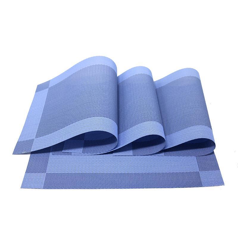2 шт. 4 шт. 6 шт. 8шт. PVC PLASEMATS Таблица в ковриками PADS столовая столовая синяя плетение не скольжения Место в кухне.
