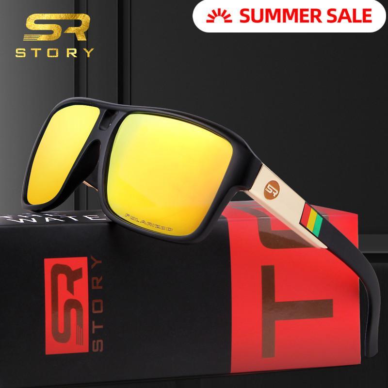 Story 2020 quadratisch polarisierte sonnenbrille männer fahren fischen sport marke design kühl schattierungen sonnenbrille outdoor klassisch männlich schwarz