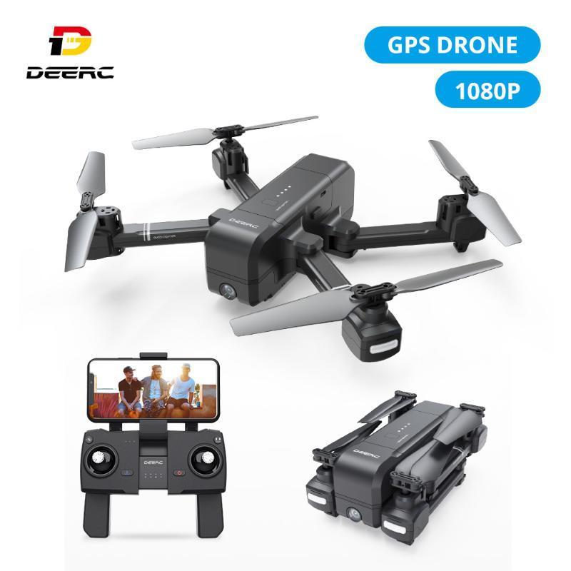 DEARC DE25 GPS Дрон с 1080P HD камерой 120 ° FPV WiFi Live Video Professional Drone GPS RC вертолет Quadcotper Quadcopter