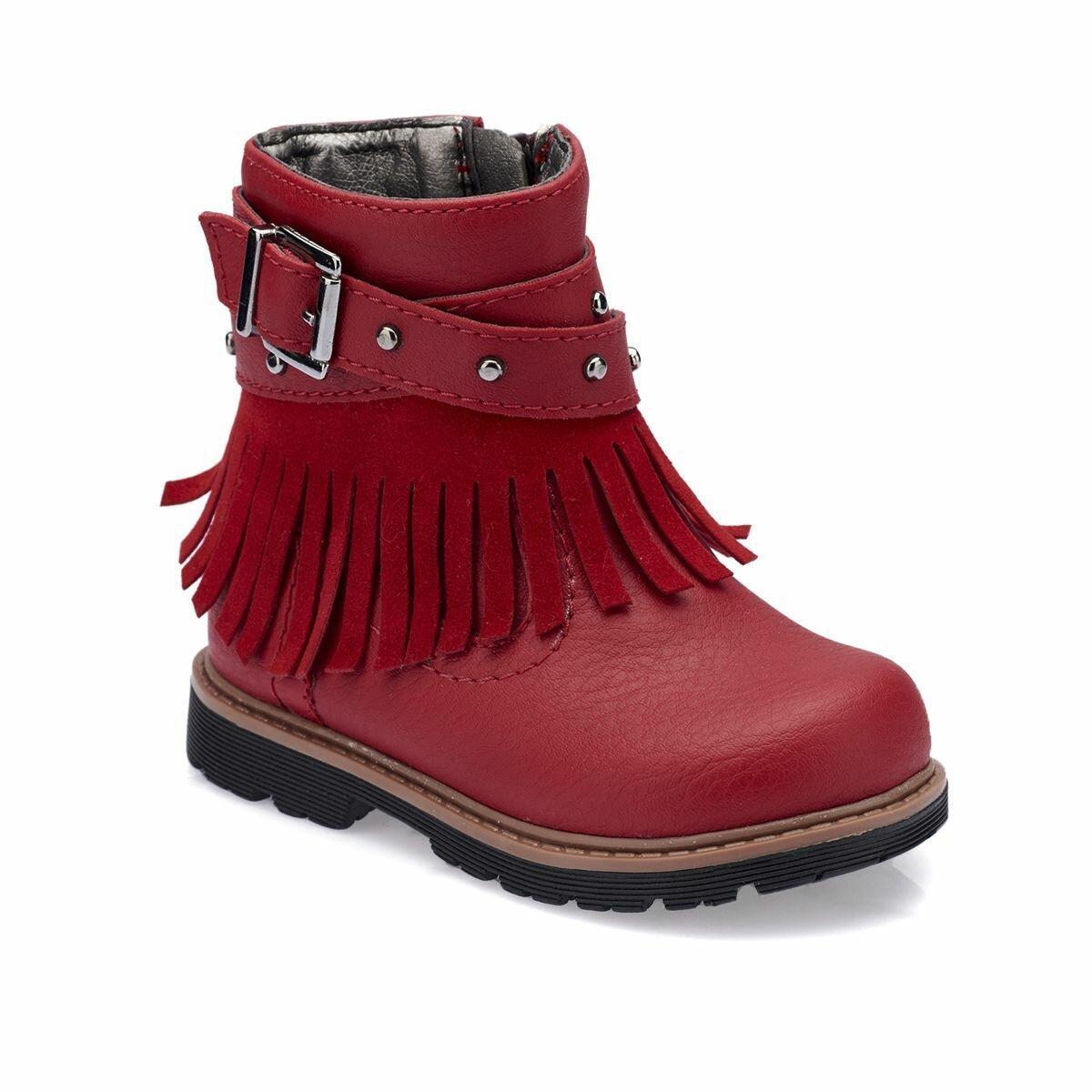 FLO 82. 510523.B Kırmızı Kadın Çocuk Botları Polaris W1217