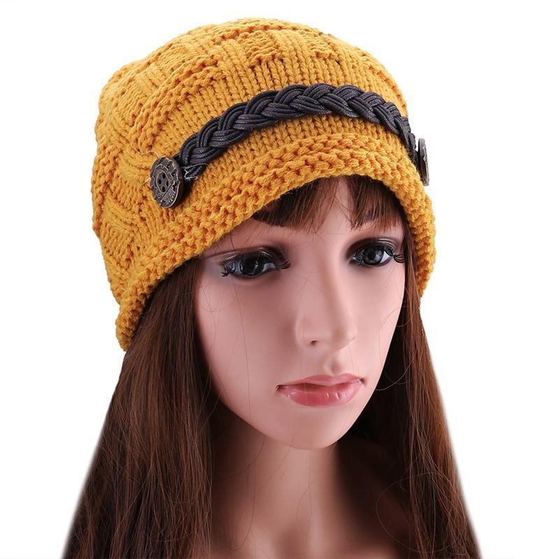 Chapeau tricoté femmes chapeaux d'hiver pour femmes dames beanie extérieure filles chapeaux bonnet femme ski chapeau de laine chaude