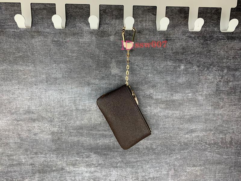 2020 جديد 4 لون مفتاح الحقيبة دميه الجلود تحمل جودة عالية الأزياء الكلاسيكية المرأة رجل حامل مفتاح عملة محفظة جلدية صغيرة محافظ مفتاح