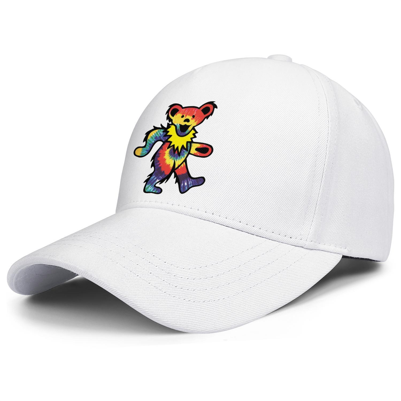 Moda gorra de béisbol Rock The Grateful Dead Baile Bear Ball Hat Sobre Cool Personalizado Camionero Cricket Grateful and Rose Dead