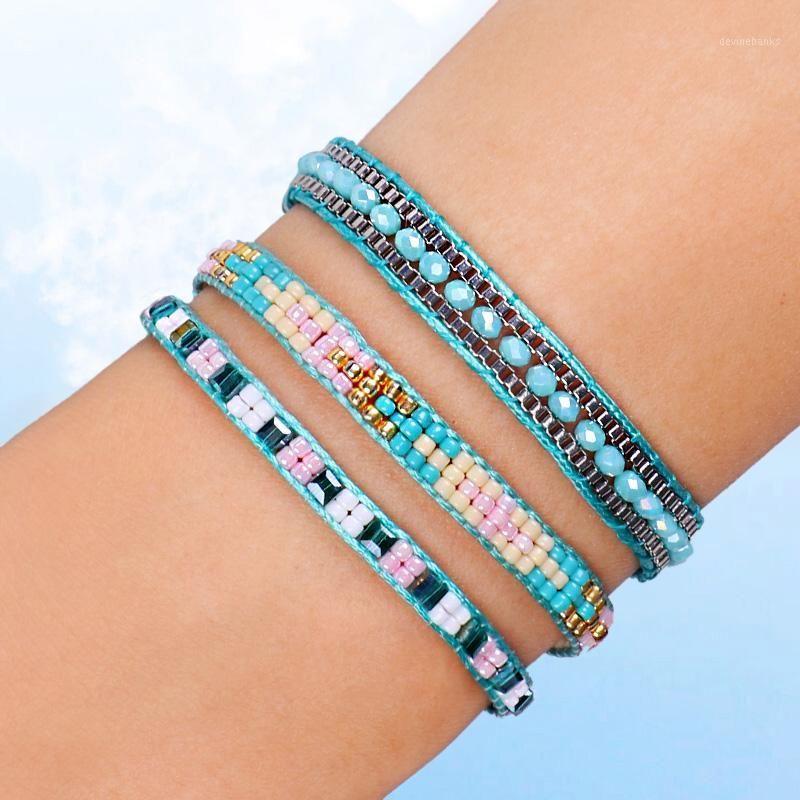 Perlé, brins FeHame Bohemia Style Mince Beads Bracelet Couleurs Amitié Boho BraceletsBangles Charm Couple Beach bijoux1