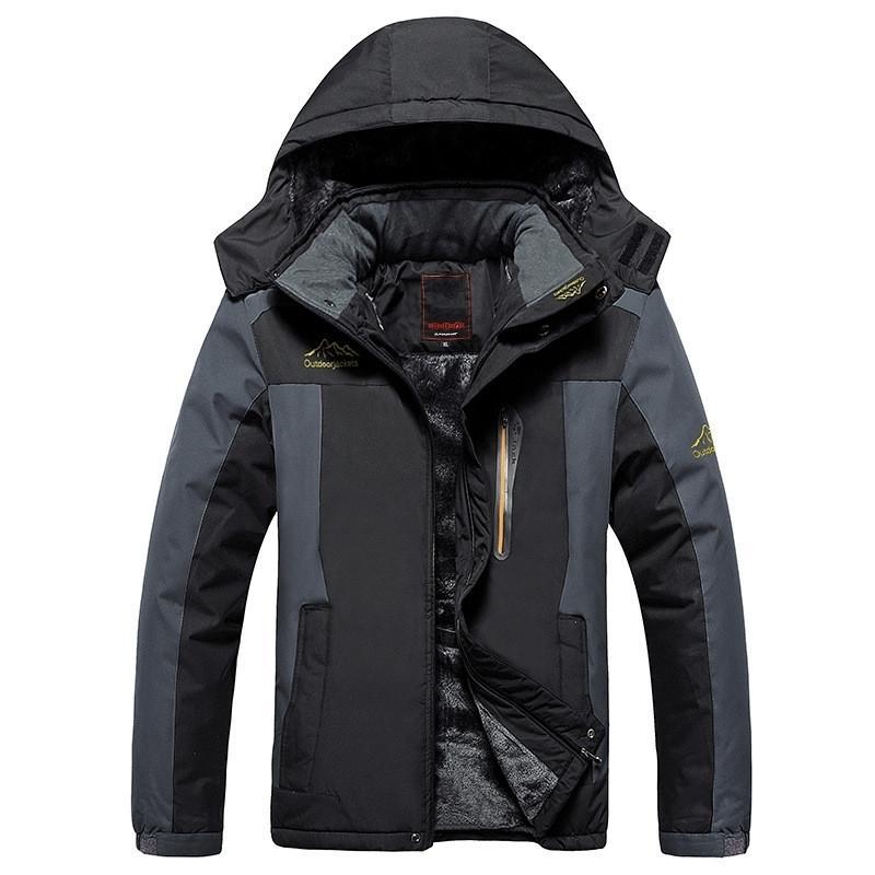 Plus size 8xl 9xl inverno lã militar down jacket casaco homens À prova de vento À prova d'água Outwear Down Parkas Windbreaker Exército Raincoat 201120