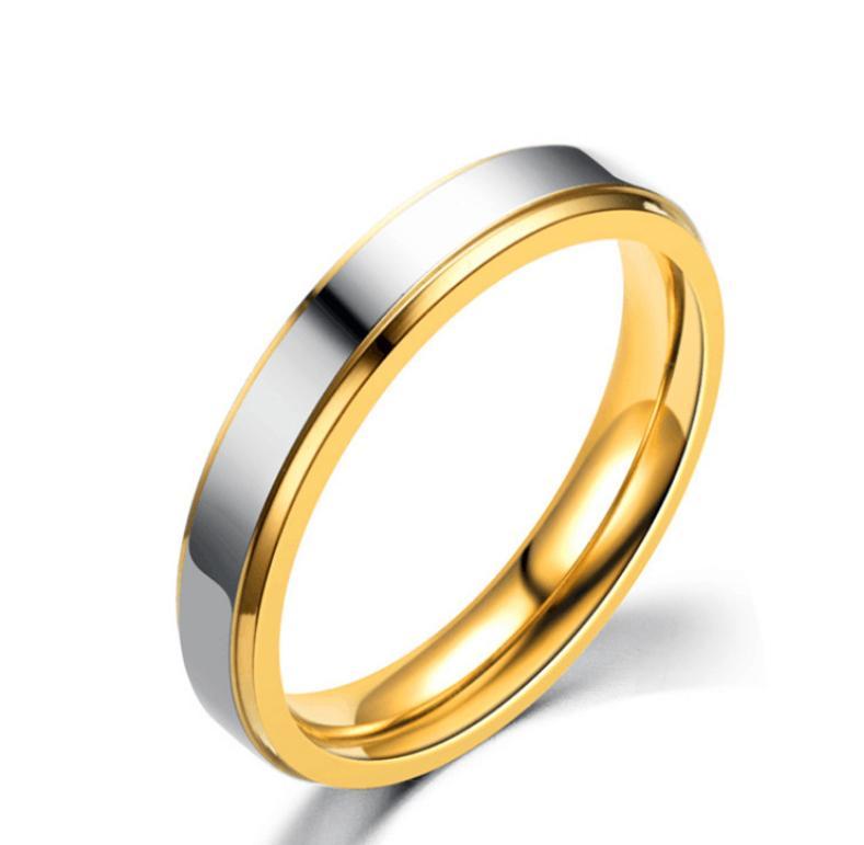 316 Anillos de acero inoxidable para mujeres Hombres Joyería Parejas Cubic Zirconia Gold Silver Rose Oro Anillos