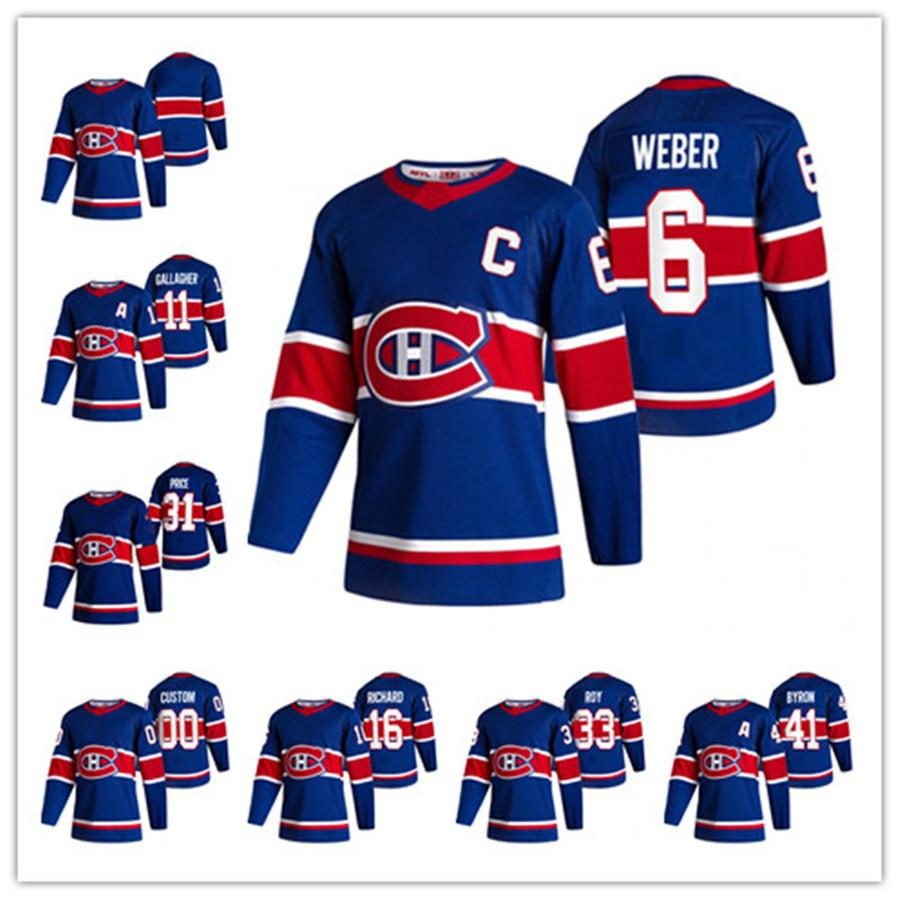 Carey Fiyat Montreal Canadiens 2021 Retro Retro Shea Weber Brendan Gallagher Domi Anderson Daulault Drouin Kotkaniemi Paul Byron Roy Jersey