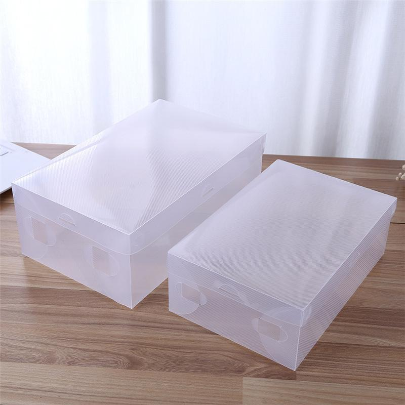 6pc PP Transparent Shoes Box Twill Bag For Shoes Travel Accessories Organizer Stackable Space Saving Master Shoes Storage Box Y1128