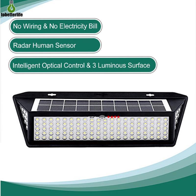118led 태양 램프 인간 유도 벽 램프 3 조명 모드 방수 IP65 태양 벽 조명 원격 제어