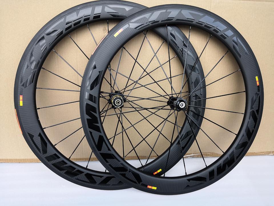 3k Twill Weave Road Bike Rodas de Carbono Clincheiro 60mm Profundidade 25mm Largura Bob Bicicleta Carbono Wheelset