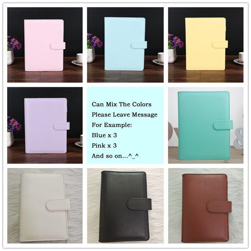 DHL shipping A6 8 Creative Waterproof Macarons Binder Hand Ledger Notebook Shell Notepad Diary Stationery Cover School Office Supplies