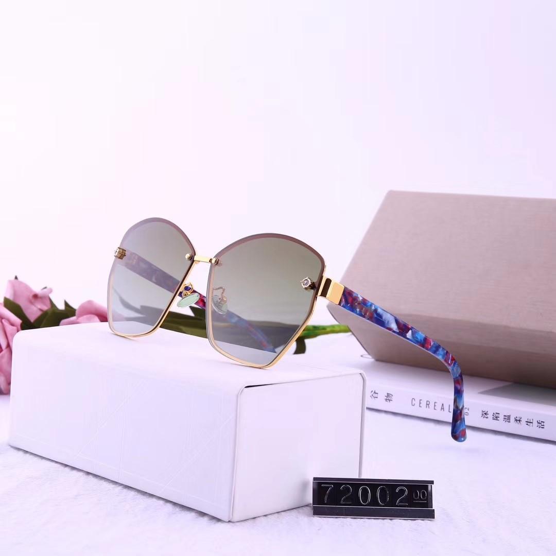 2019 nuovo stile piastra da donna a specchio gamba occhiali da sole polarizzati di alta qualità occhiali da sole ormless 72002 occhiali da parasole colorati