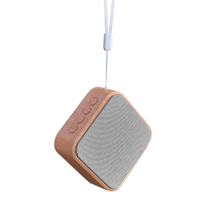 Дерево Wireless Bluetooth Speaker HIFI Bass Портативная акустическая система Поддержка карт памяти FM TF для iPhone Samsung Huawei смартфон