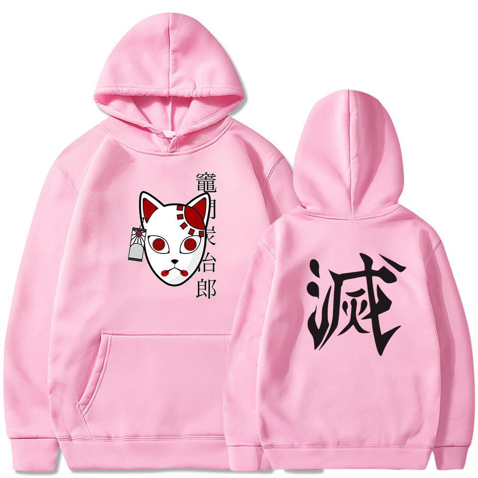 Anime Demone Slayer Pullover Felpa Donna Uomo Tanjiro Kamado Costume Felpe Harajuku Demon Slayer Kimetsu No Yaiba Sudadera 201118
