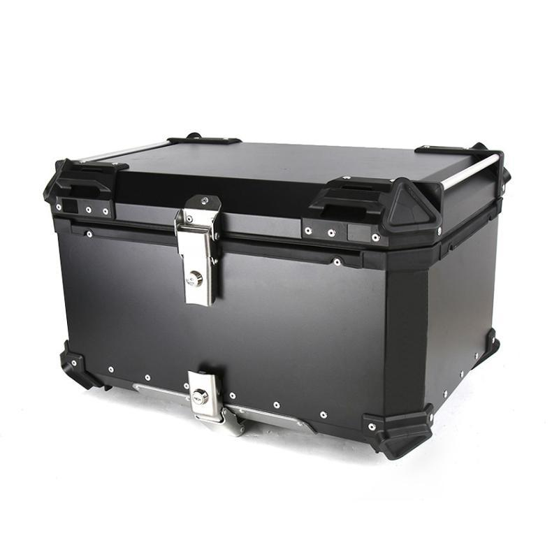 55L 65L universale moto posteriore bagaglio alluminio tronco custodia custodia moto strumento strumento impermeabile casco tasto tailbox toolbox toolbox