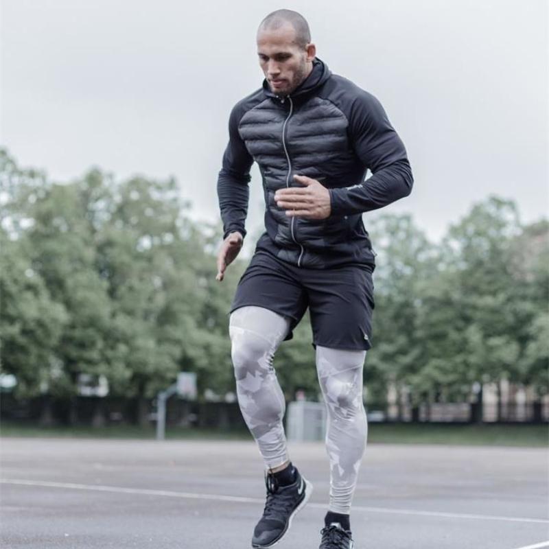 Giacca Cappotto Plus Size Inverno Autunno Autunno Gunk Down Giacca Uomini Brand Fitness Felpe con cappuccio Joggers Gym Running Maschio per uomo Sport1