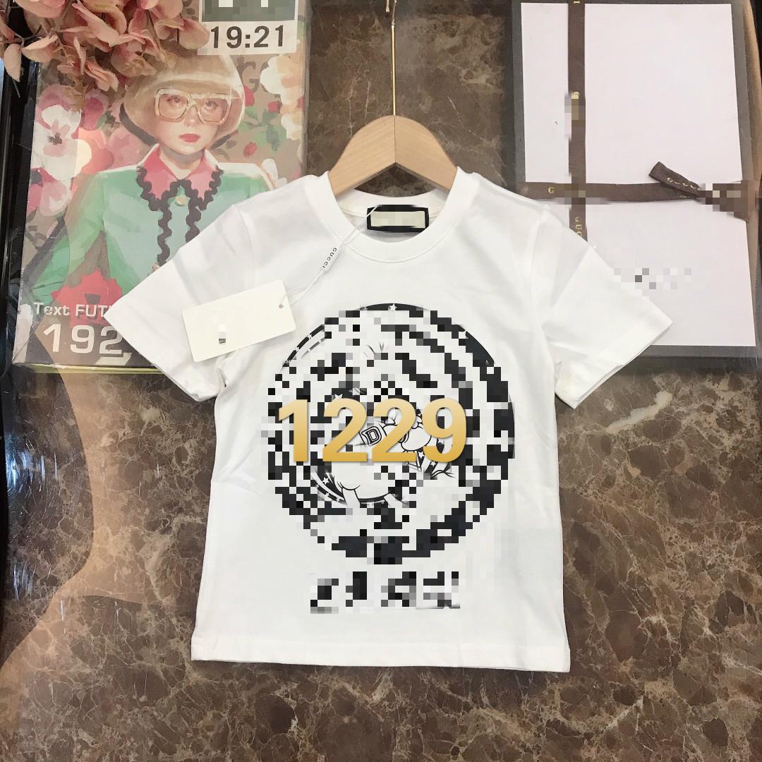 2021 Erken Bahar Sınırlı Sayıda Çocuk T-Shirt Kısa Kollu High-end Özel High-end Buz Porselen Pamuklu Kumaş 1229G014