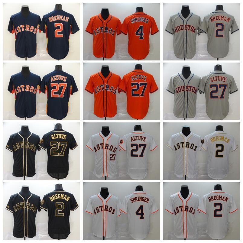 2020 Houston 27 Jose Altuve Jersey 4 조지 스프링 러 2 Alex Bregman Astros 야구 유니폼