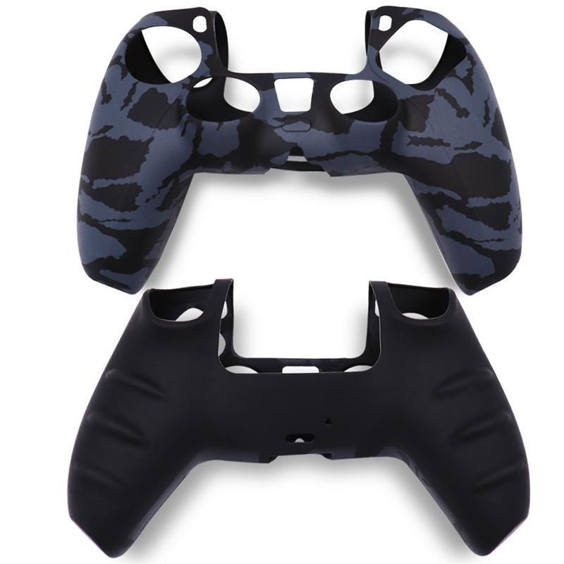 PS5 Kontrolörü Gamepad Silikon Kaymaz Koruma Çevre Dostu Silikon Kılıf Kamuflaj Ps5 Koruyucu Kapak İçin Yeni