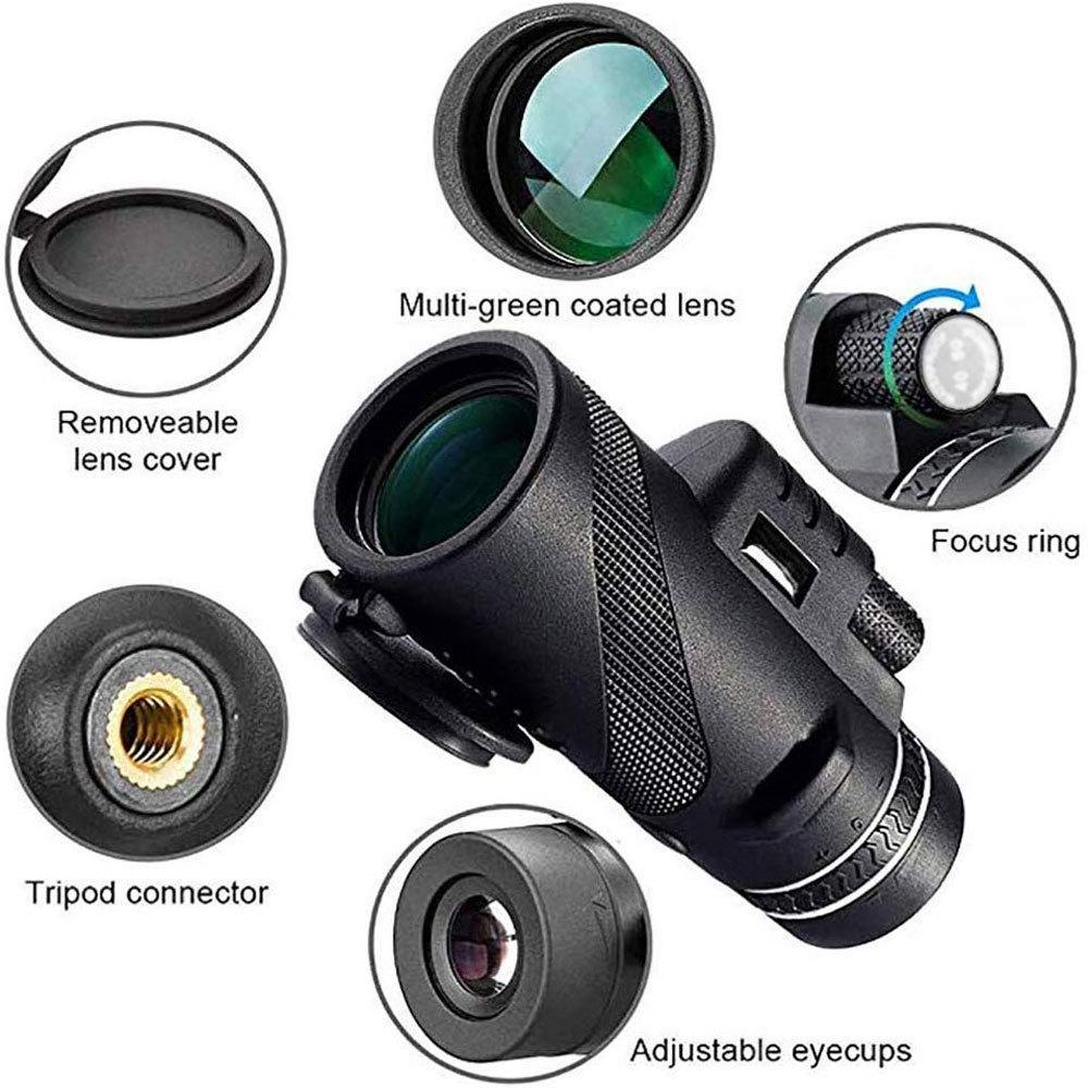 50x60 Увеличение Навес Телескоп Ночное видение Монокуляр Увеличить Мологие Бинокулярные Наружные Военные Профессиональные Охотничьи Шпировые