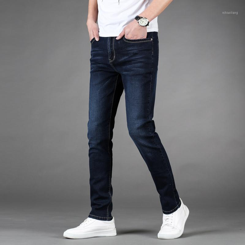 Tamaño Moda Moda Jeans Business Casual Stretch Jeans 2020 Primavera Pantalones Denim Pantalones Pantalones Pantalones Ropa Masculina Bottoms1