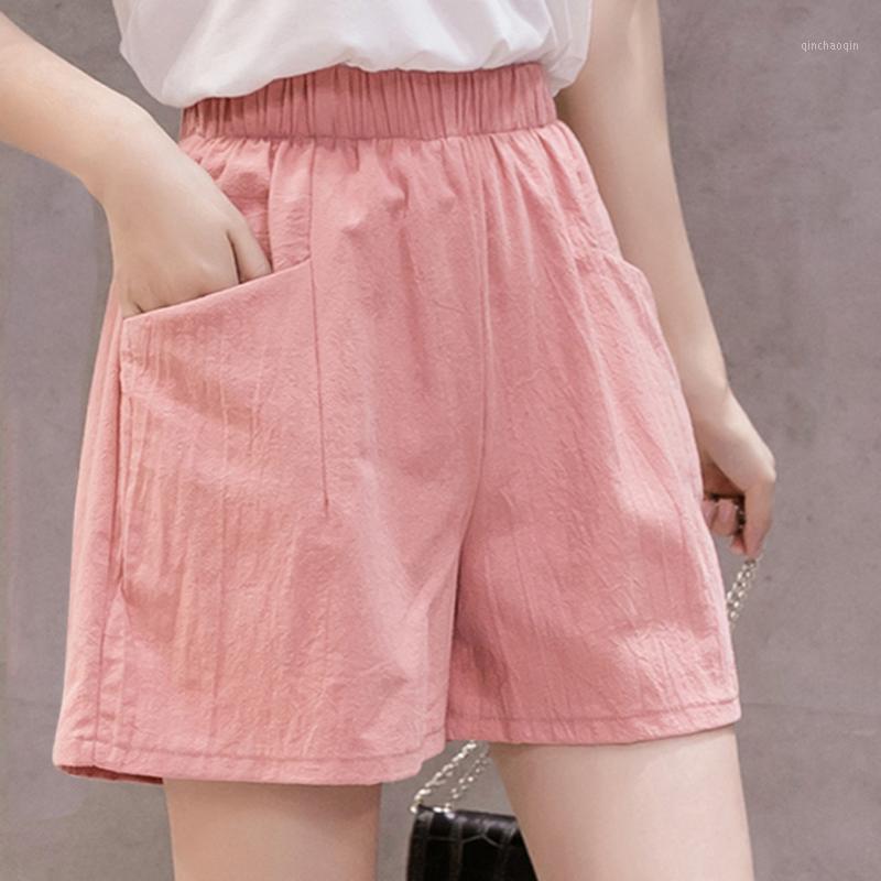 Женская йога спортивные шорты горячие летние повседневные хлопковые шорты плюс размер середины талии короткие льняные женщины уличное одеяние короткие штаны # 201