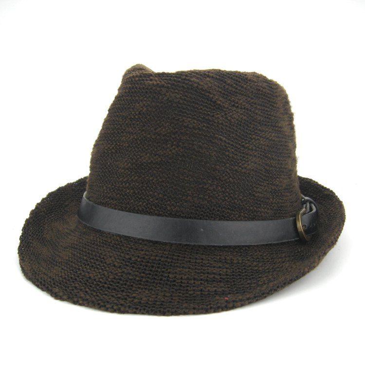 2021 nuevos sombreros de paja Fedora Soft Soft Hombres Mujeres Stingy Brim Caps 6 colores Elija 10pcs / lot zds