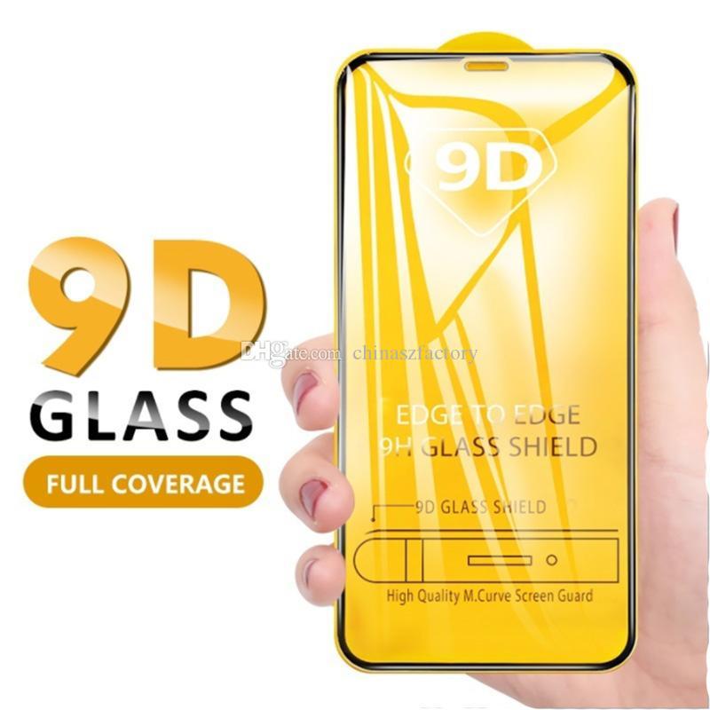 جديد 9d غطاء كامل حامي الشاشة ل 2020 iPhone 12 11 برو ماكس xs ماكس xr الزجاج المقسى ل xiaomi حامي الفيلم