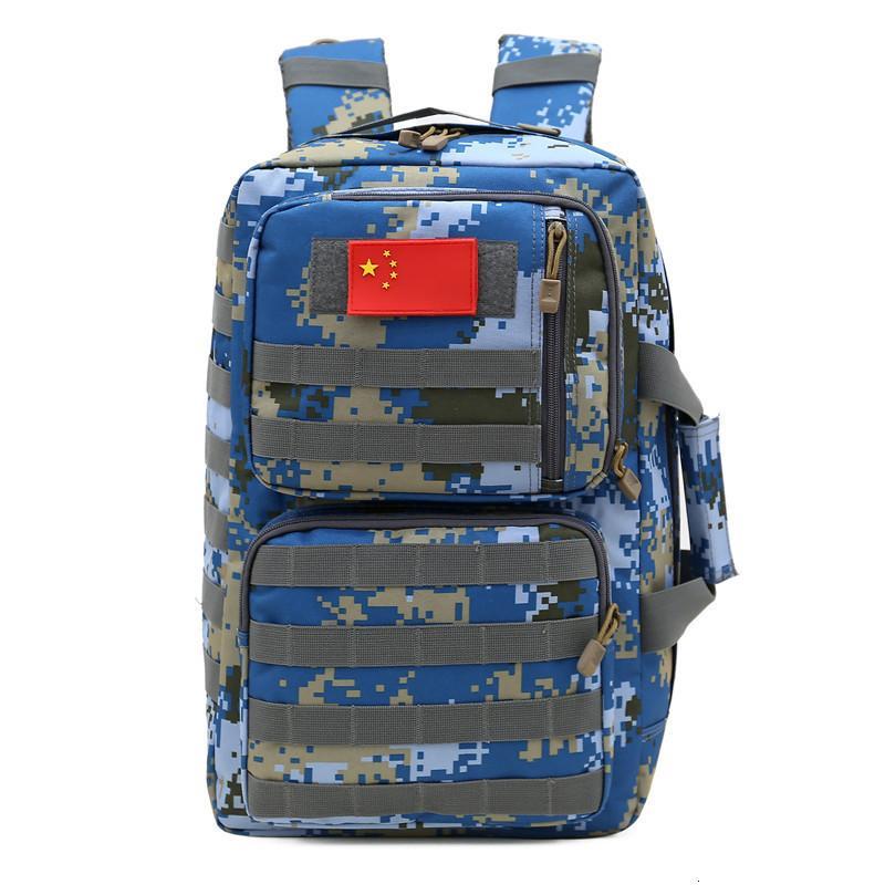 Camouflage Herren Bergsteigen Molle Outdoor Travel Rucksack Multifunktionale taktische Gepäcktasche