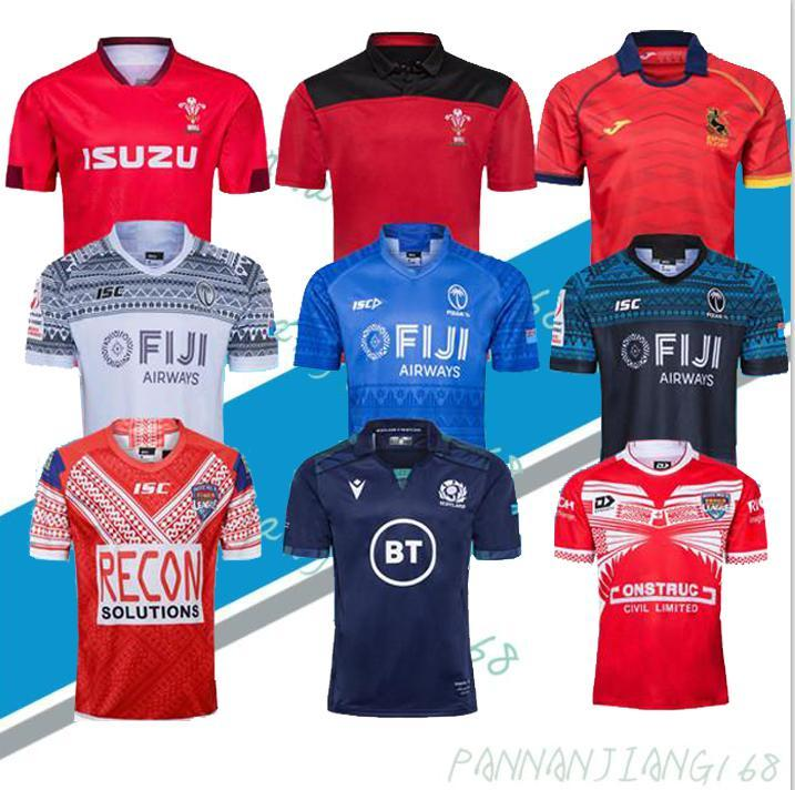 NCAA 2020 Rugby Worlle Coupe du Monde Jersey Galles Rouge Jerseys 20 21 Rugby League Espagne Rugby Shirts Ecosse Fidji Tonga Shirts
