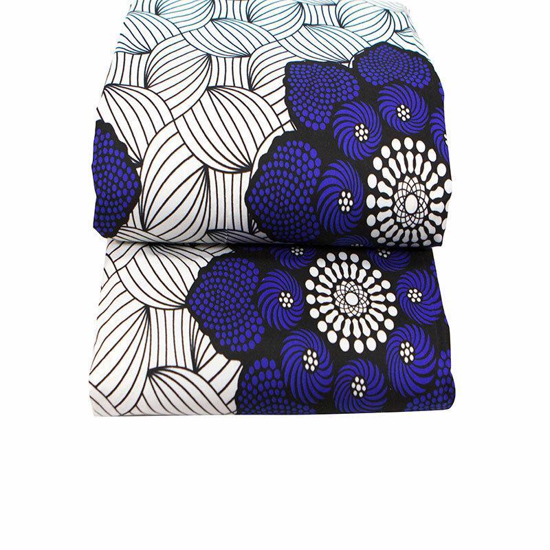 21 Nuovi prodotti Ankara Poliestere African Poliestere Stampe Tessuto Binta Reale cera di alta qualità 6 yards Tessuto africano per la lavorazione della lavorazione della custodia