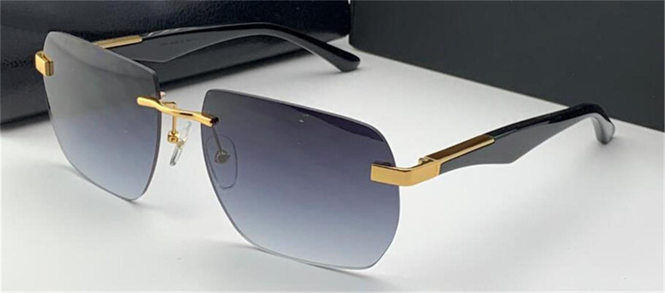 새로운 패션 안경 디자인 선글라스 예술가 II 다각형 무선 프레임 관대 한 스타일 하이 엔드 야외 UV400 보호 렌즈