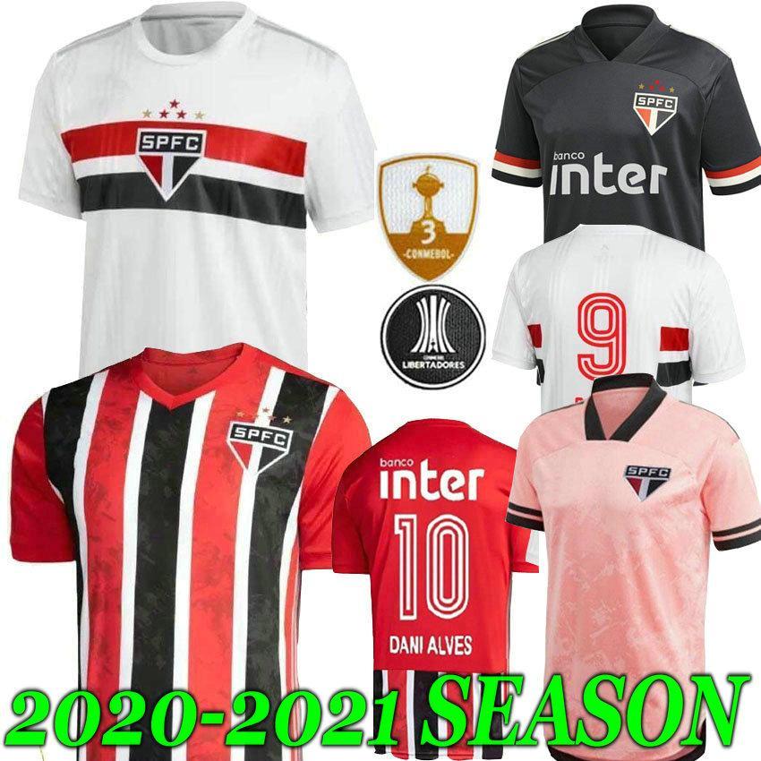 2021 2020 Sao Paulo FC PATO Alves Home White Mens soccer jerseys HERNANES PABLO Sao Paulo football shirt camisa de futebol 20 21